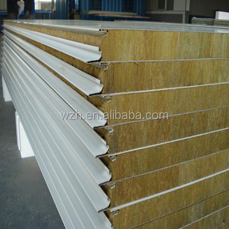 Insulated metal rockwool sandwich wall panel buy for Rockwool insulation panels
