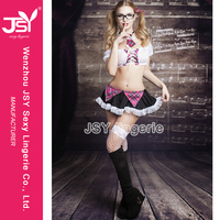 2015 Hot Sale extreme sexy shirts for school uniforms models erotic uniform