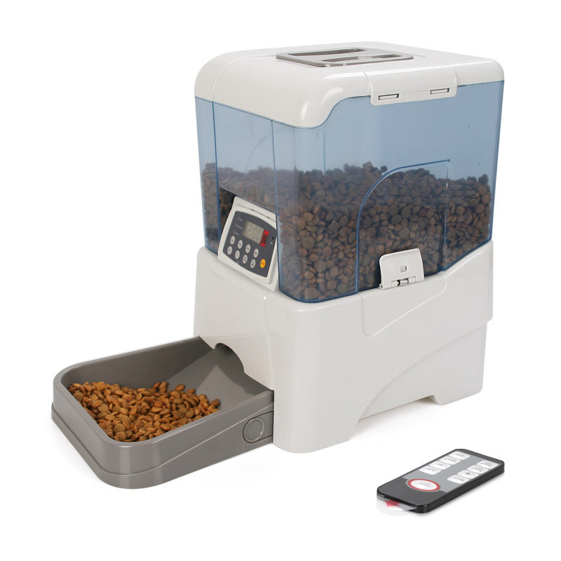 Newest large capacity digital automatic pet feeder remote controlled dog cat feeder