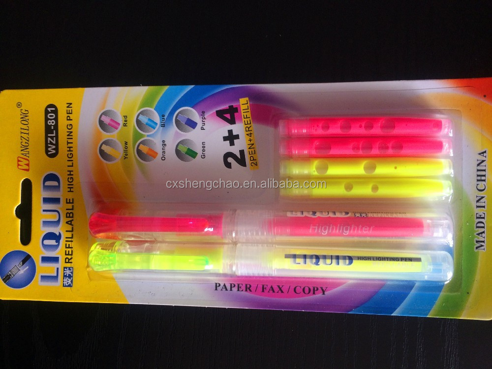 popular highlighter marker with high quality non toxic ink
