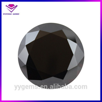 Black Moissanite Diamond Price Per Carat 8mm CZ Wholesale