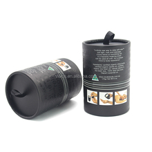 Customized tea paper tube package recycled small black cardboard tube for packaging