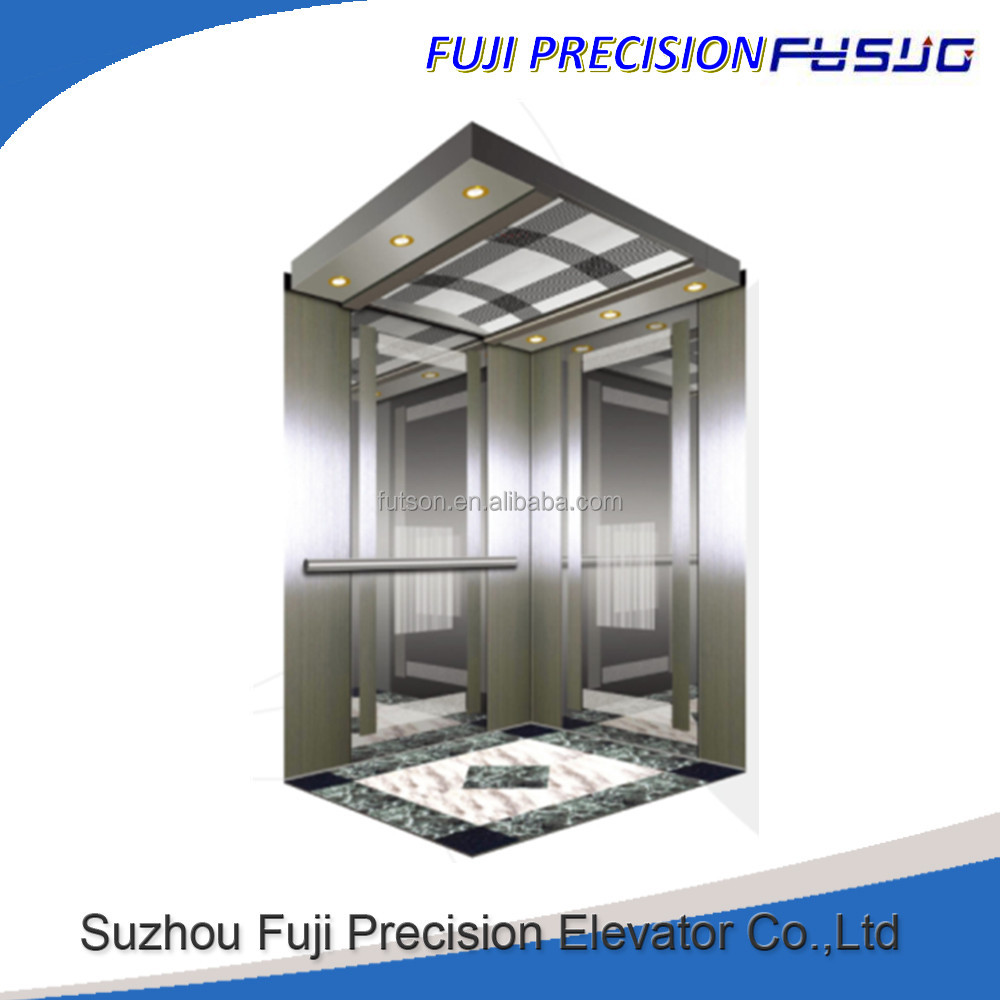Japan technology Fuji elevator 450kg Small Passenger left elevator with good price
