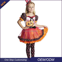 OEM Girls Halloween Pumpkin Fairy Carnival Costume