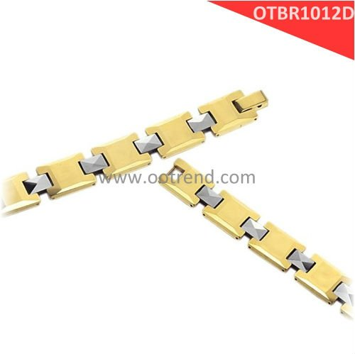 2017 New Arrivals dubai golden magnetic bracelets,made of pure heavy golden magnetic tungsten carbide