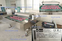 meat fish beef pork automatic belt type vacuum packaging machines