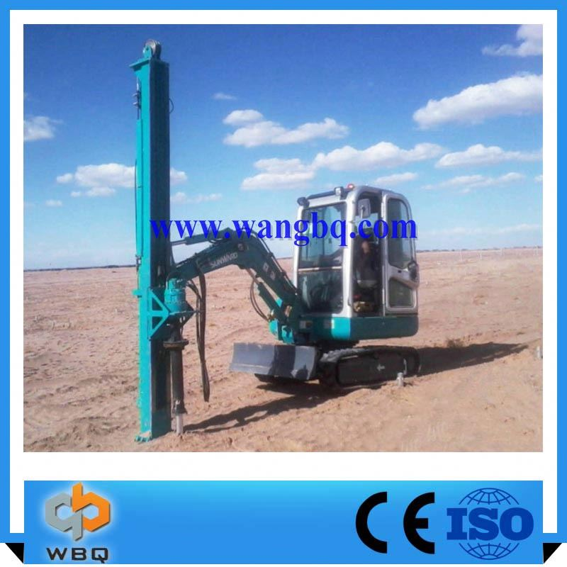 China Manufacturer Crawler Small Pile Driver For Solar Power System Drilling Machine