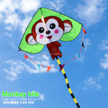 Weifang cheap Cartoon Monkey delta single line kites with high quality