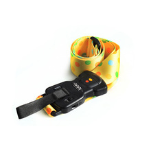 Outdoor travel password lock luggage strap/luggage belt