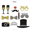New product 12 pack paper mustache photo booth props