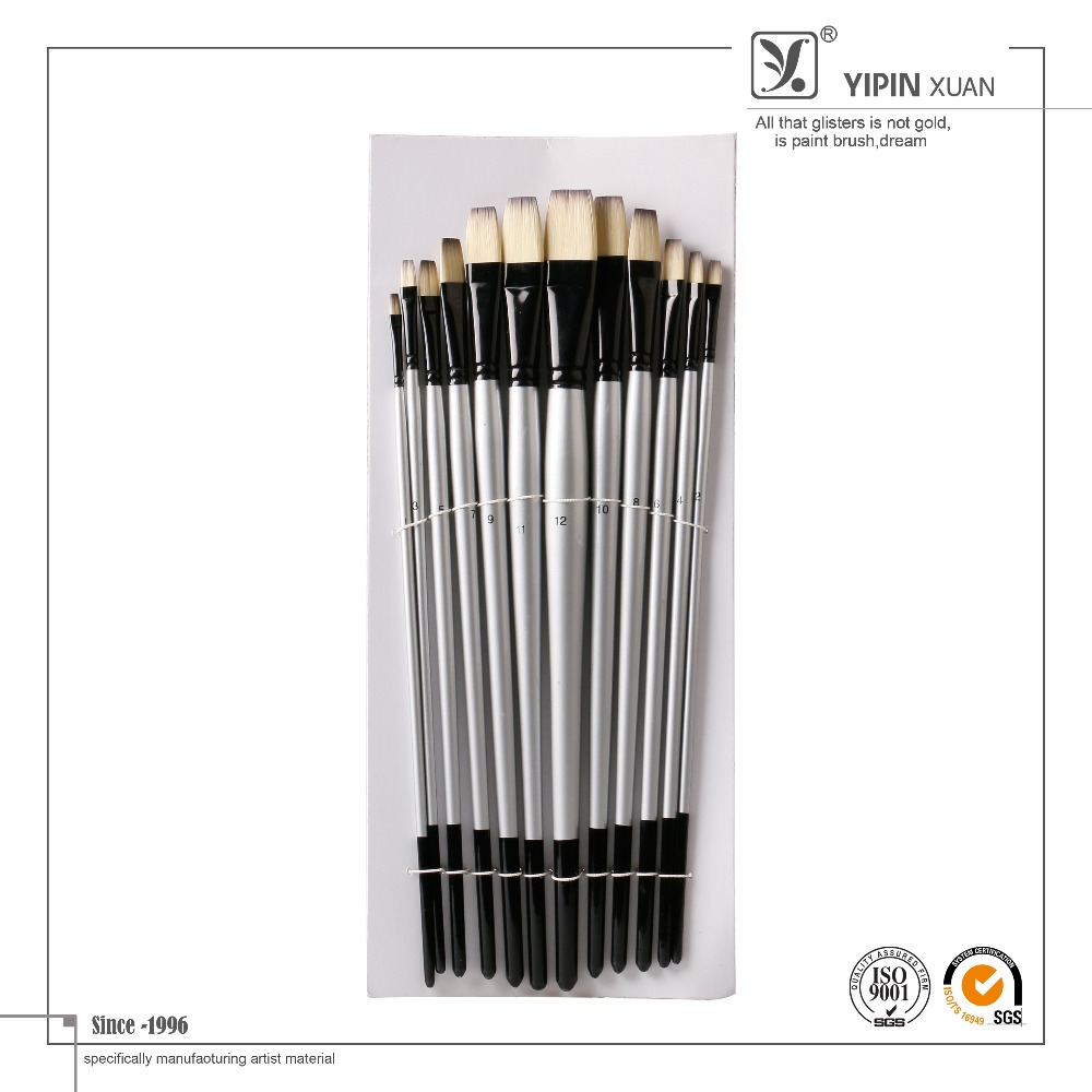 2016 New Products Arts and Crafts Copper Tube Nylon Hair Oil Paint Brushes in Art