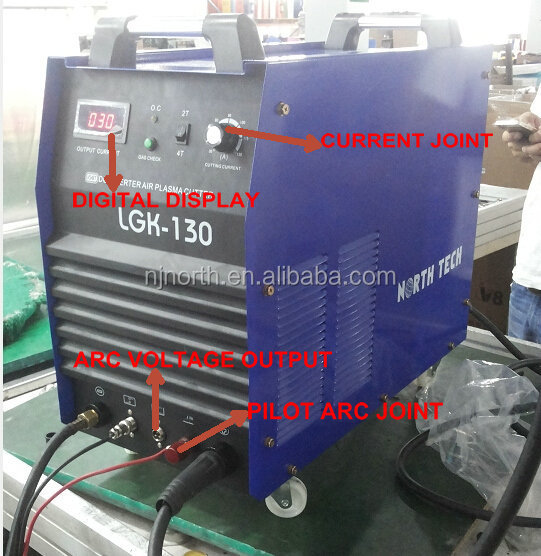 plasma cutter CUT130 made of 2PCS IGBT module,100% duty cycle cnc plasma cutting machine used for cnc system