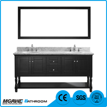 2017 New food grade Double basin MDF commercial bathroom vanity