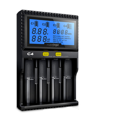 AC86-265V/DC12V Input with LCD Screen 4 Slots Single Battery Charger for Li-ion battery, Ni-MH,Ni-Cd Battery Charger