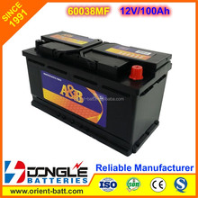 Manufacturing GL limousine 12V car battery 100ah best price