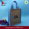 Promotional advertising custom eco friendly jute shopping bag