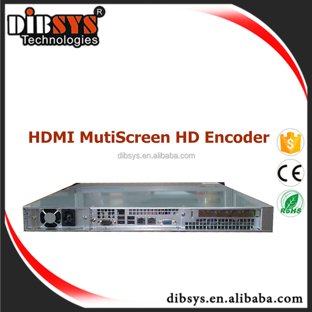Superior Quality HD HDMI MPEG4 AVC Encoder IPTV-HDMI/IP relies on an Intel 4 or more Core CPU