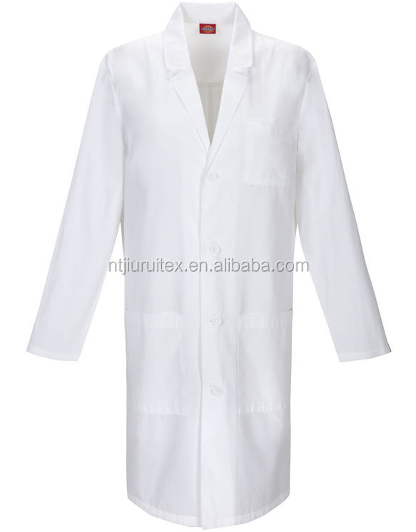 Unisex EDS Polyester Cotton Poplin White Signature Lab Coat