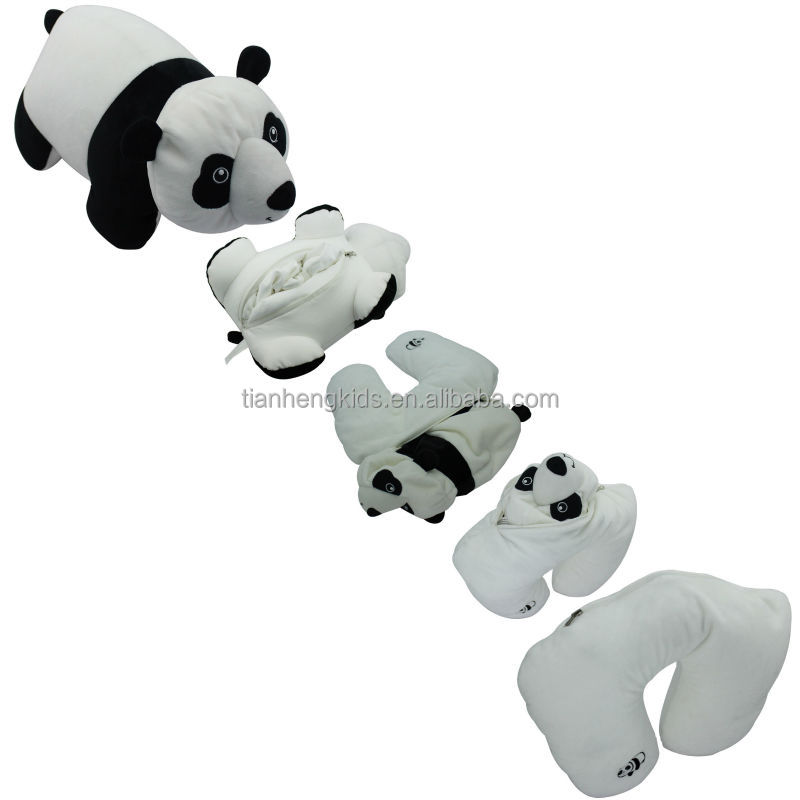 Valentines Animal Shape Microbeads Filling Transformative Travel Pillow panda plush toy, View ...