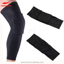 Custom long knee brace made in China knee pad for sport compression knee sleeves