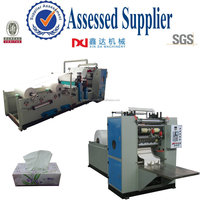 Automatic paper processing equipment emossed folding facial tissue products machine