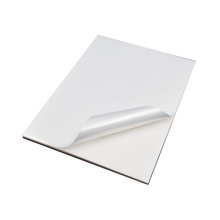 Glossy white PP plastic self adhesive sticker raw material