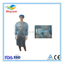 Disposable ppe waterproof isolation gown
