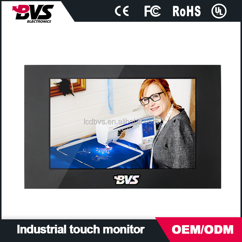 7 inch tft lcd monitor with vga/dvi /usb port,high resulotion display