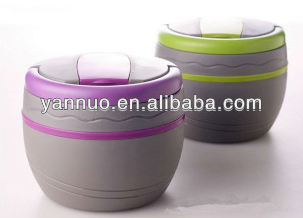 Plastic divided bento container, Plastic thermal insulated food warmer container
