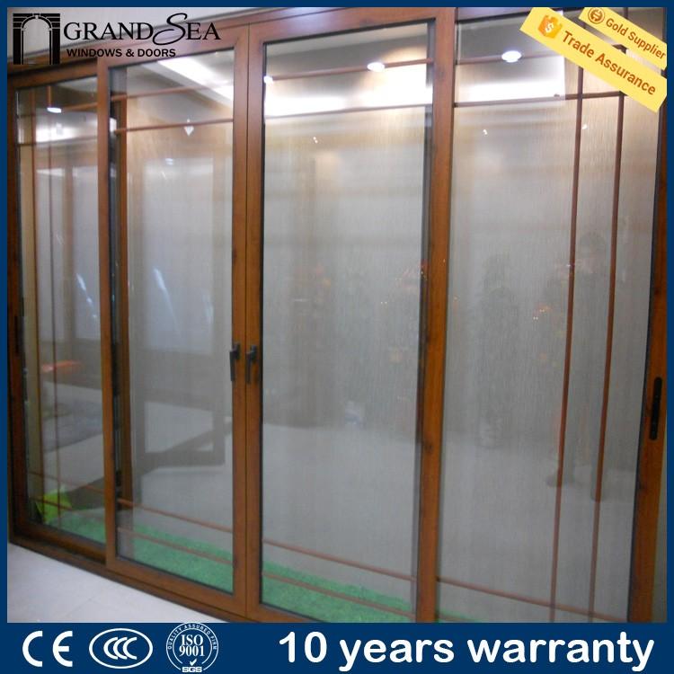 Competitive price multi track glazed balcony sliding glass for Multi track sliding glass doors
