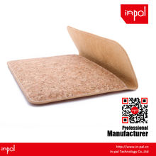 New arrivals well-stitched protective envelope cork leather smart cover for apple ipad mini