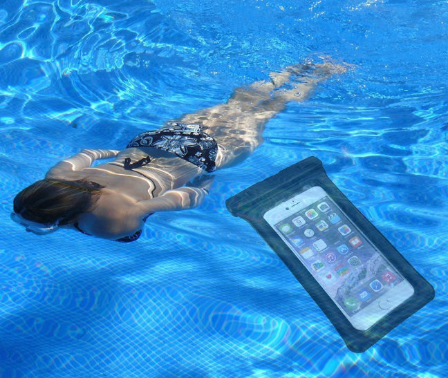 waterproof floating wrist pouch for mobile phone