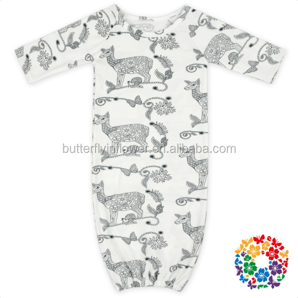 Wholesale Newborn Baby Clothes Adorable Animal Infant Night Wear Sleeping Gowns