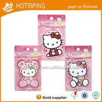 2016 New products customize poppy liquid car air freshener with hello kitty picture china supplier
