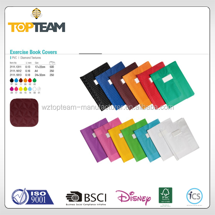 High Quality Non-Toxic PVC Clear&Tints Exercise Book Cover With Inner Flap For BTS