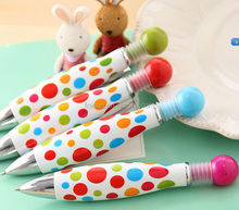 Cute colorful printing plastic ball pen free school supplies samples