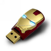 New Arrival 32G Exqusite Iron Man Shape USB Flash Drive Wholesale USB Driver 2.0 Pen Drive