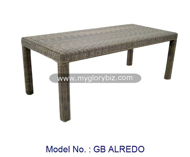 Modern Long Table Furniture For Garden Set, Rattan Outdoor Furniture, Rattan Outdoor Table In Classic Simple Design