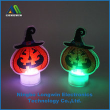halloween mini LED pumpkin craft light with changing color