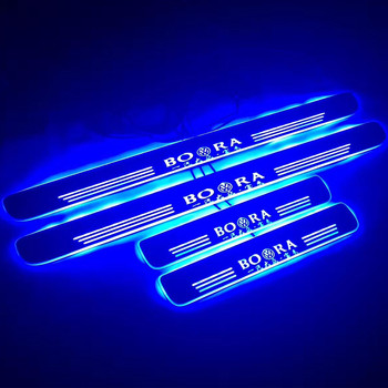 Volkswagen door sill custom made Bora moving led car door sill plate