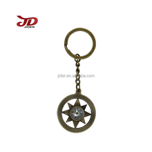 Custom metal star compass key chain/key chain