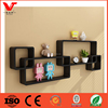 Home Decorative Floating Set Wall Shelf With Wall Cubes