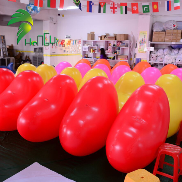 Giant Wedding Decorative Inflatable Heart Shaped BalLoons / Led Heart Balloons With Led Lights