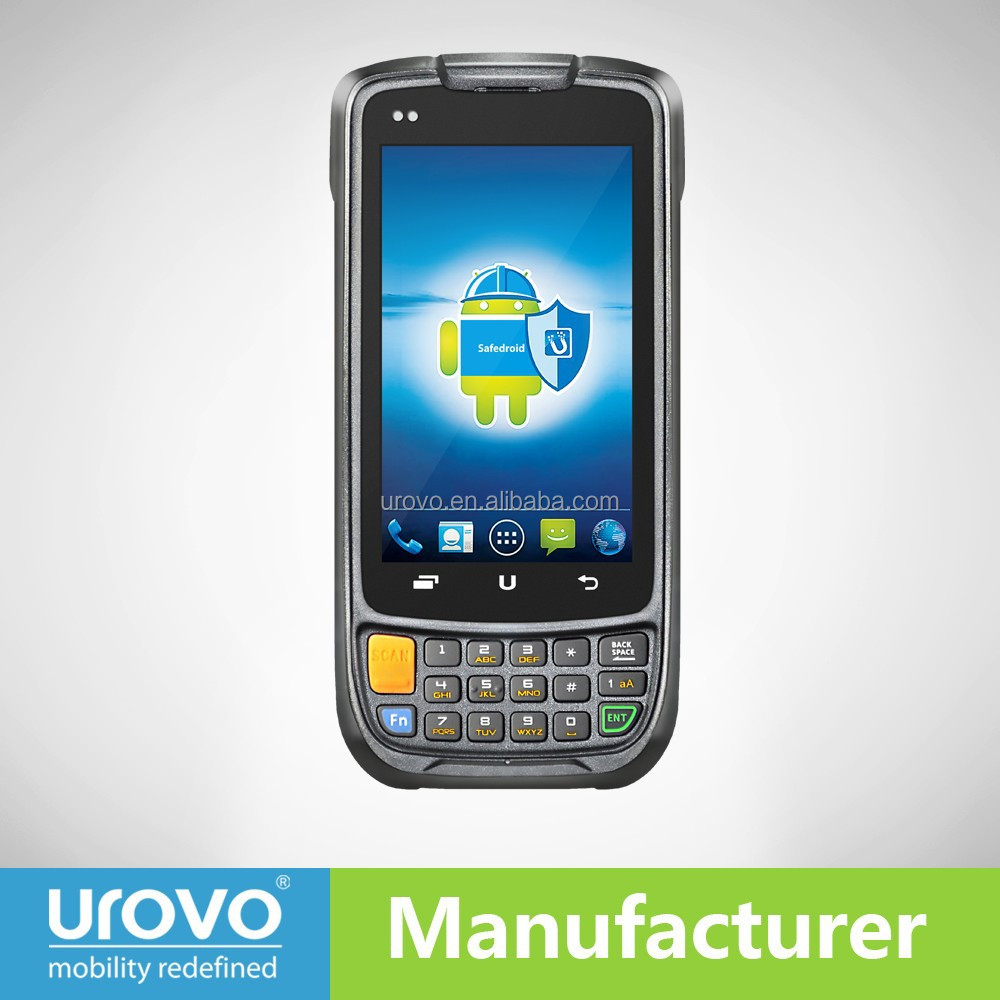 handheld qr code scanner smart phone with wifi/bluetooth/GPS/WCDMA.Urovo i6200s Data terminal