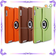 360 degree rotate sleep and auto for ipad case wholesale leather case for ipad pro case with package
