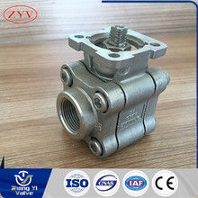 High quality three piece stainless steel high platform ball valve
