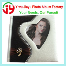 2016 new design big self adhesive sheet wedding family leather photo album