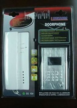 1&1 wiring intercom/audio door phone for single house