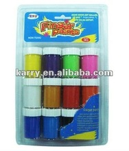 12 colour finger paints in blister card