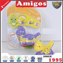 excellent factory Friction dinosaur yellow/purple wholesale friction animal toy